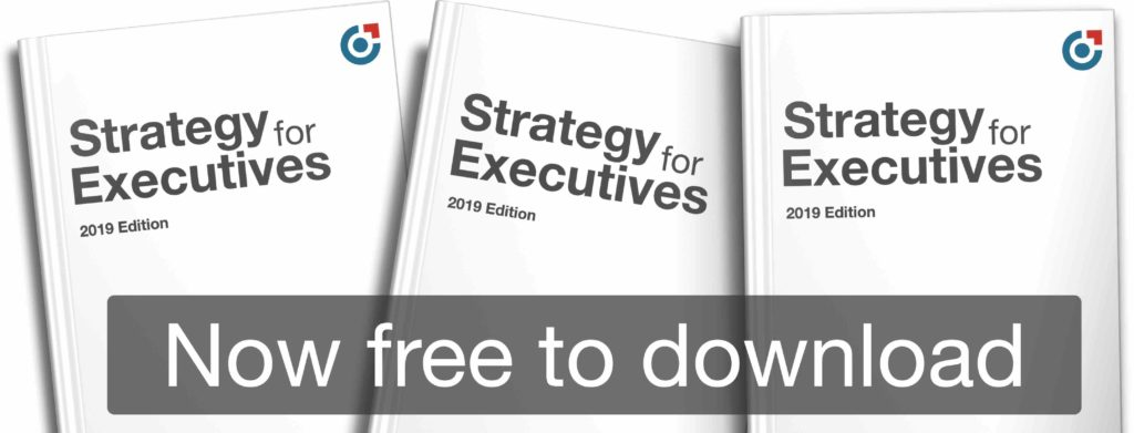 Strategy for executives book covers with link to download